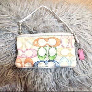 Coach Wristlet with colored letter